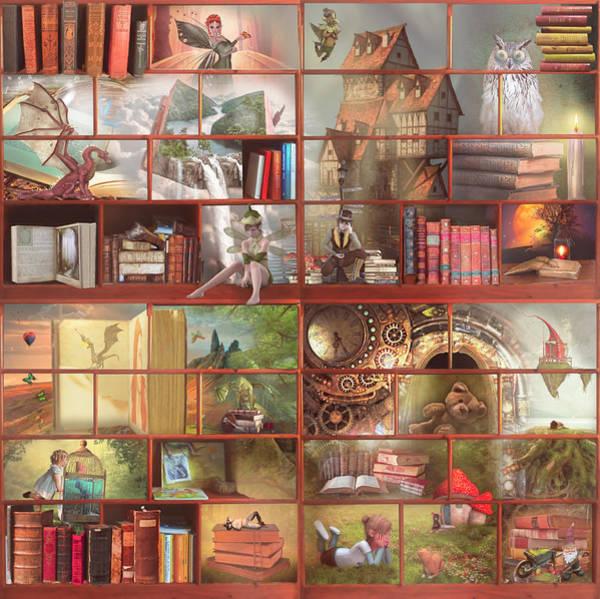 Digital Art - Old Time Fairytales by Debra and Dave Vanderlaan