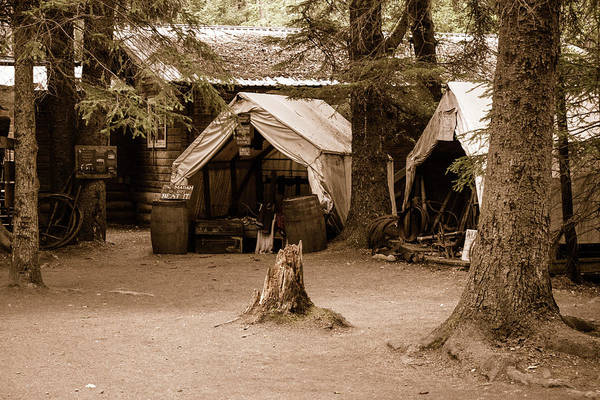 Wall Art - Photograph - Old Time Gold Rush Camp  by Edward Garey