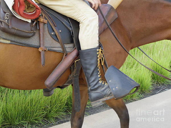 Photograph - Old Time Saddle Rider by Ann Horn
