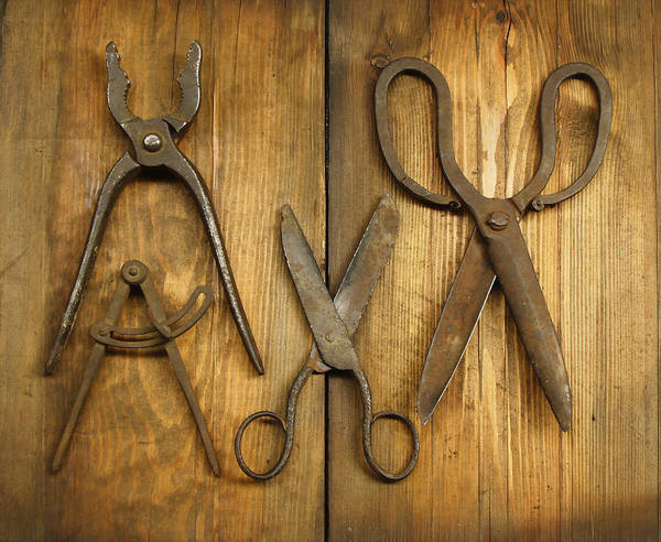 Handle Photograph - Old Tools by Ivstiv