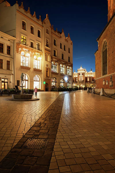 Wall Art - Photograph - Old Town At Night In City Of Krakow by Artur Bogacki