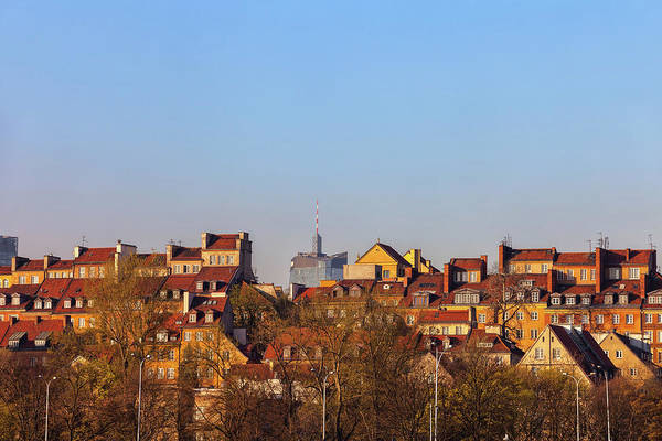 Tenement Photograph - Old Town Houses In City Of Warsaw by Artur Bogacki