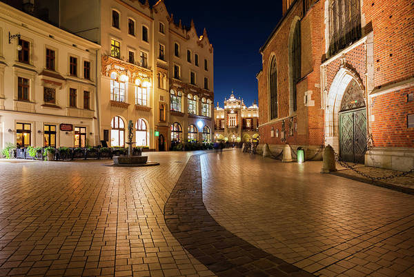 Wall Art - Photograph - Old Town In Krakow At Night by Artur Bogacki