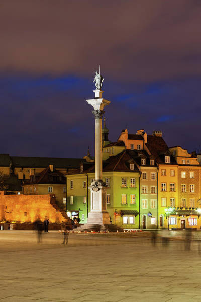 Wall Art - Photograph - Old Town In Warsaw By Night by Artur Bogacki