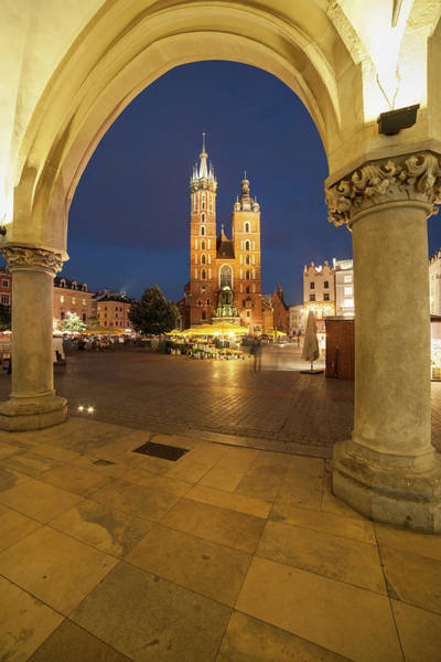 Wall Art - Photograph - Old Town Main Square At Night In Krakow by Artur Bogacki
