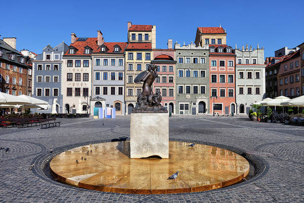 Wall Art - Photograph - Old Town Market Square Of Warsaw In Poland by Artur Bogacki