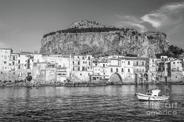 Wall Art - Photograph - Old Town Of Cefalu - Sicily Bw by Stefano Senise