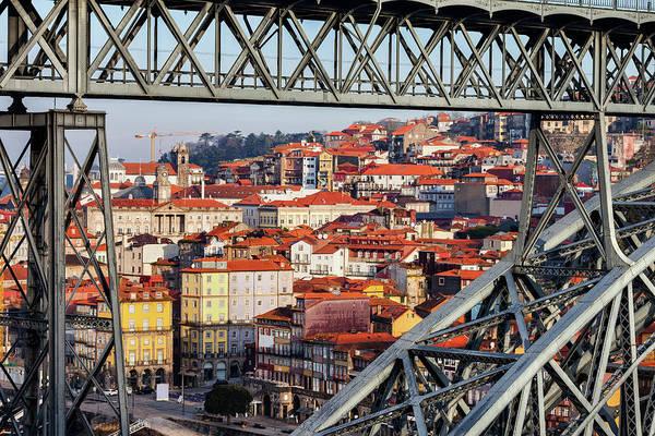 Wall Art - Photograph - Old Town Of Porto Through Dom Luis I Bridge by Artur Bogacki