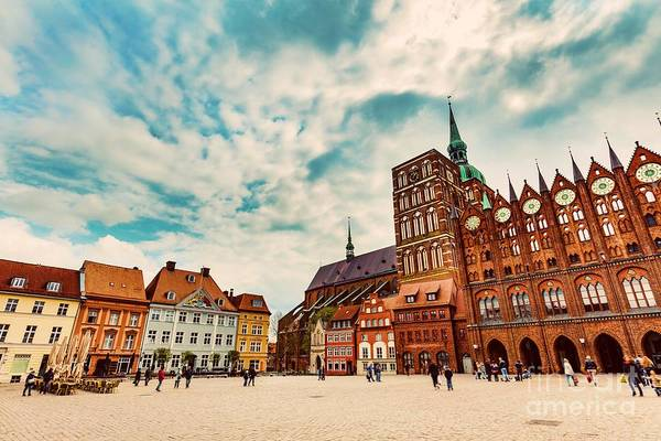 Wall Art - Photograph - Old Town Of Stralsund, Germany by Michal Bednarek