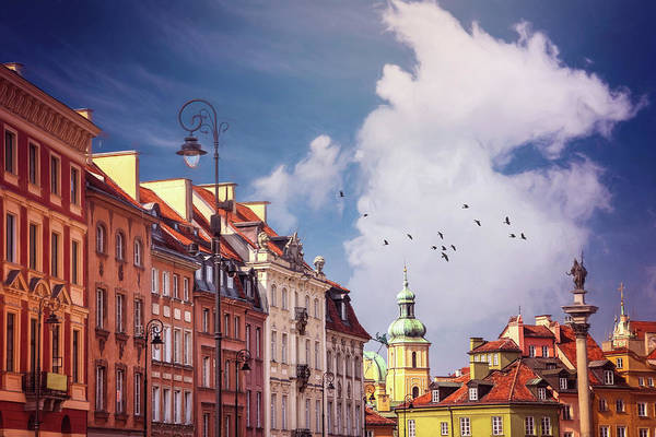 Wall Art - Photograph - Old Town Rooftops Warsaw Poland by Carol Japp