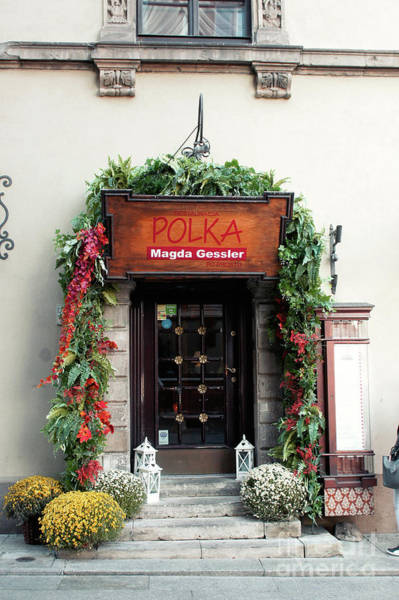 Wall Art - Photograph - Old Town Warsaw Restaurant by Tom Gowanlock