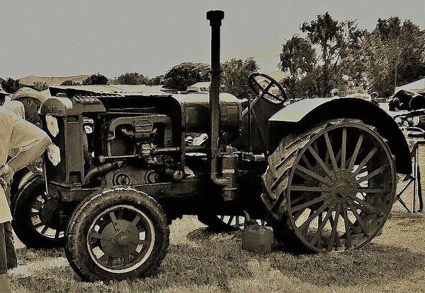 Digital Art - Ye Old Tractor by David Manlove