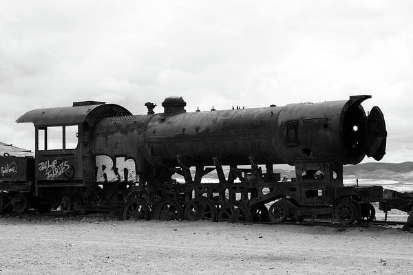 Photograph - Old Train, Uyuni, Bolivia by Aidan Moran