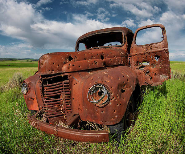 Bullets Photograph - Old Truck by Leland D Howard