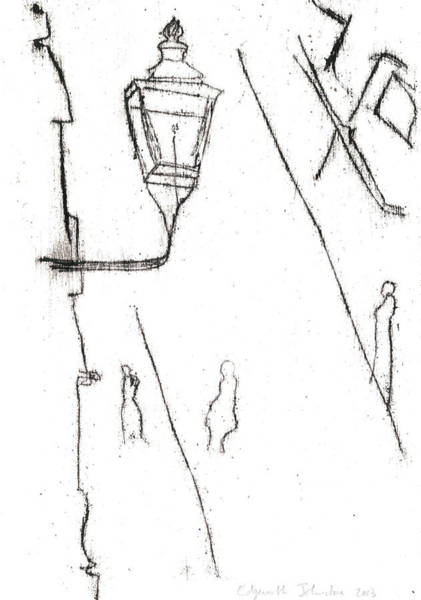 Drawing - Old Victorian Street Lamp by Artist Dot