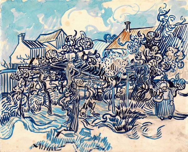 Wall Art - Painting - Old Vineyard With Peasant Woman - Digital Remastered Edition by Vincent van Gogh