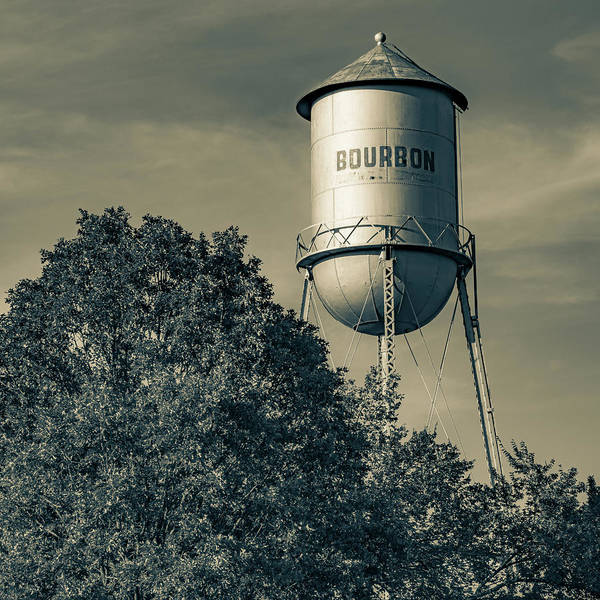 Photograph - Old Vintage Bourbon Tower Landscape - Sepia Edition 1x1 by Gregory Ballos