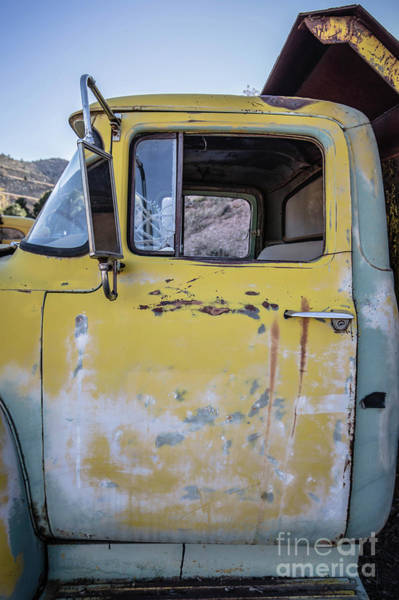 Photograph - Old Vintage Dump Truck by Edward Fielding