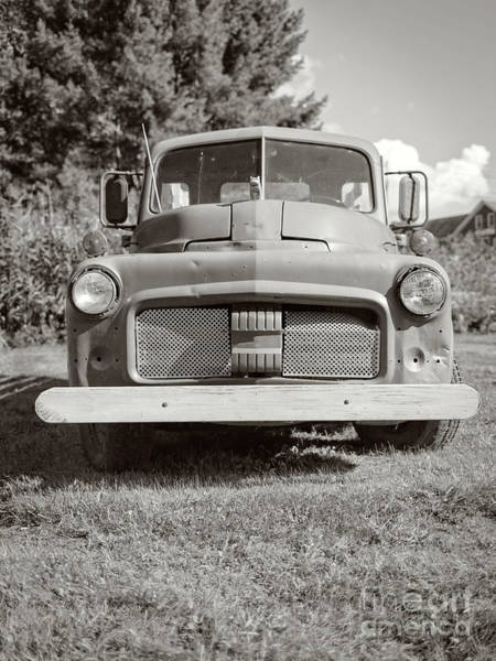 Wall Art - Photograph - Old Vintage Farm Truck Sepia Toned by Edward Fielding