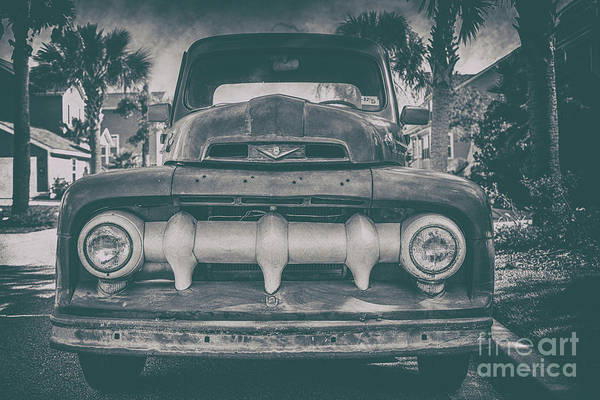 Photograph - Old Vintage Ford Truck Grill by Dale Powell