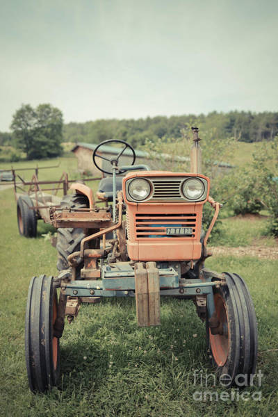 Photograph - Old Vintage Tractor On A Vermont Farm by Edward Fielding