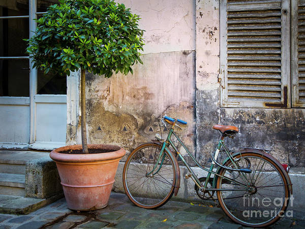 Photograph - Old Wall And Bicycle by Brian Jannsen
