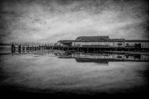 Wall Art - Photograph - Old Warf Reflection by Garry Gay