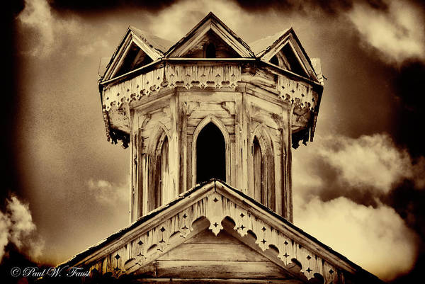 Wall Art - Photograph - Old Weathered Barn Roof Cupola  by Paul W Faust - Impressions of Light