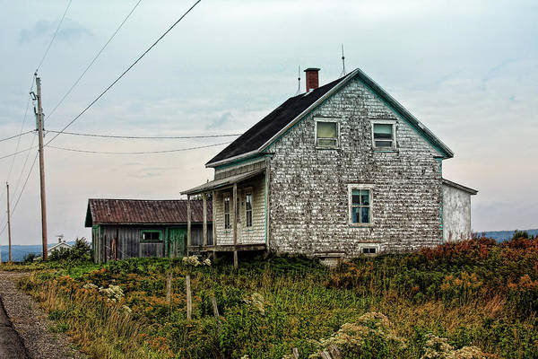 Photograph - Old Weathered House In Atlantic Canada by Tatiana Travelways
