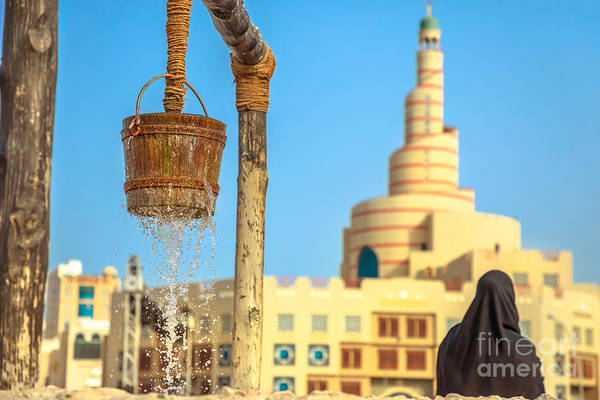 Photograph - Old Well And Doha Mosque by Benny Marty