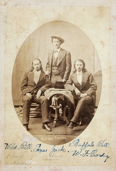 Wall Art - Photograph - Old West Legends - Wild Bill Hickok - Texas Jack Omohundro - Buffalo Bill Cody  C. 1873 by Daniel Hagerman