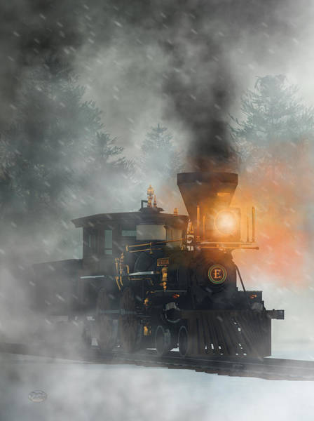 Digital Art - Old West Steam Train  by Daniel Eskridge
