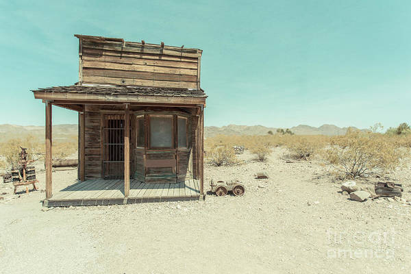 Jail Photograph - Old Western Building In The Desert by Edward Fielding