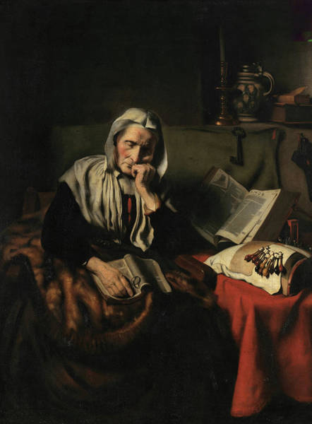 Wall Art - Painting - Old Woman Dozing, 17th Century by Nicolaes Maes