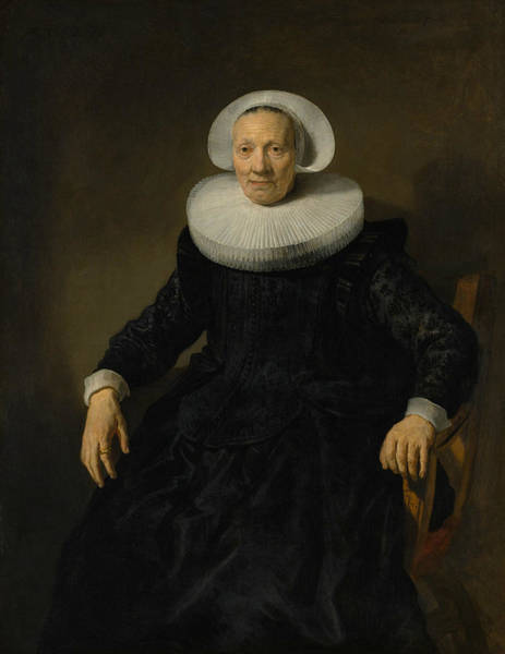 Wall Art - Painting - Old Woman In An Armchair by Jacob Adriaensz Backer
