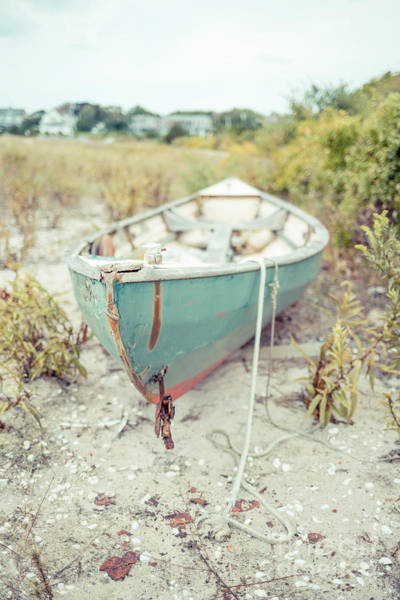 Photograph - Old Wooden Skiff Hyannis Port Cape Cod by Edward Fielding