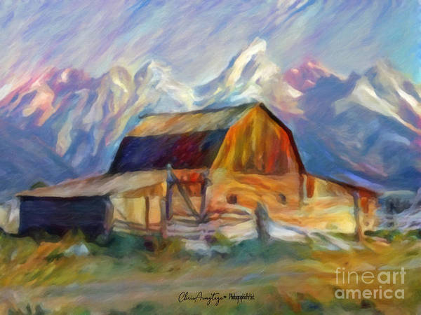 Wall Art - Painting - Old Wyoming Barn by Chris Armytage