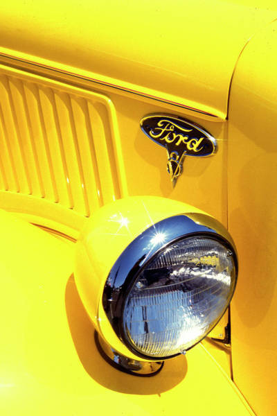 Photograph - Old Yellow Ford by Paul W Faust -  Impressions of Light