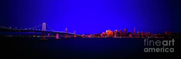 Photograph - San Francisco, Skyline, Dawn, Vignette Oakland, Bay, Bridge, From Treasure,island by Tom Jelen