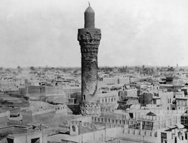 Baghdad Wall Art - Photograph - Oldest Minaret by Hulton Archive