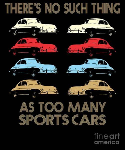 Awesome Show Digital Art - Oldtimer Sports Car Lover Retro Vintage by Dusan Vrdelja