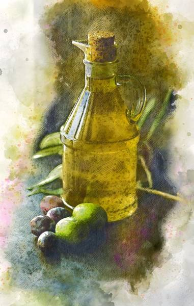 Felicitous Wall Art - Painting - Olive Oil by ArtMarketJapan