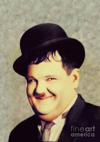 Wall Art - Painting - Oliver Hardy, Hollywood Legend by John Springfield