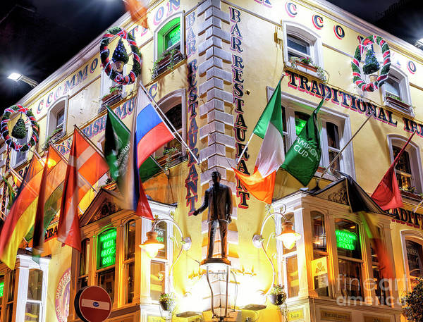 Wall Art - Photograph - Oliver St. John Gogartys At In Night Dublin by John Rizzuto