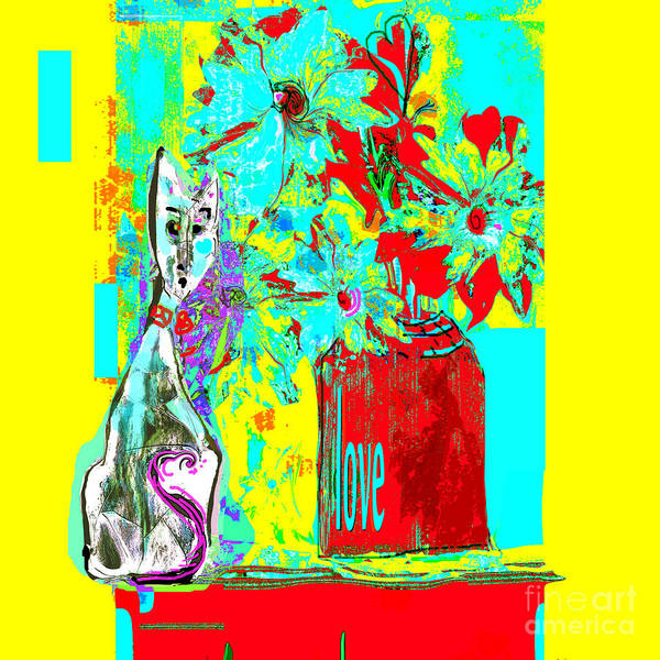 Organic Abstraction Mixed Media - Oliver Weighs The Pros And Cons by Zsanan Studio