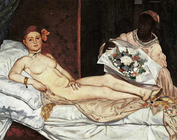 Wall Art - Painting - Olympia, By Edouard Manet, 1863, 19th by Mondadori Portfolio