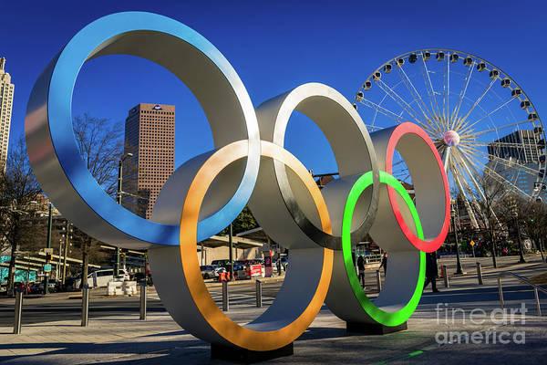 Photograph - Olympic Rings Centennial Park Atlanta Ga 1 by Sanjeev Singhal