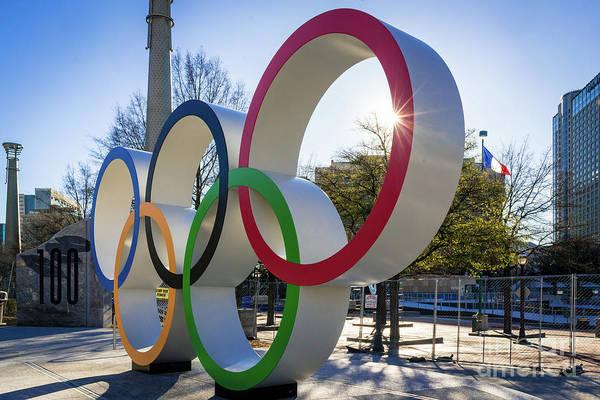 Photograph - Olympic Rings Centennial Park Atlanta Ga 2 by Sanjeev Singhal