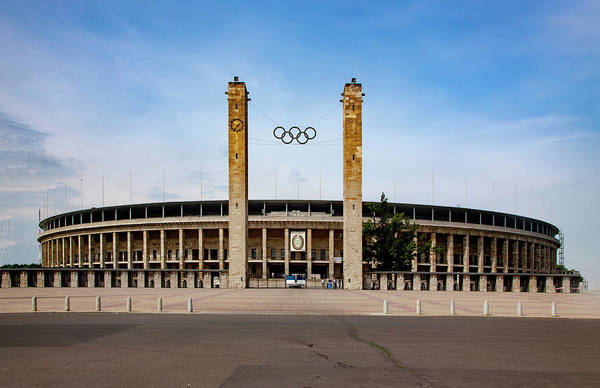 Wall Art - Mixed Media - Olympic Stadium Berlin by Smart Aviation