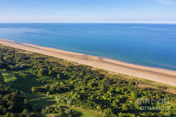 Wall Art - Photograph - Omaha Beach Aerial View by Mike Reid